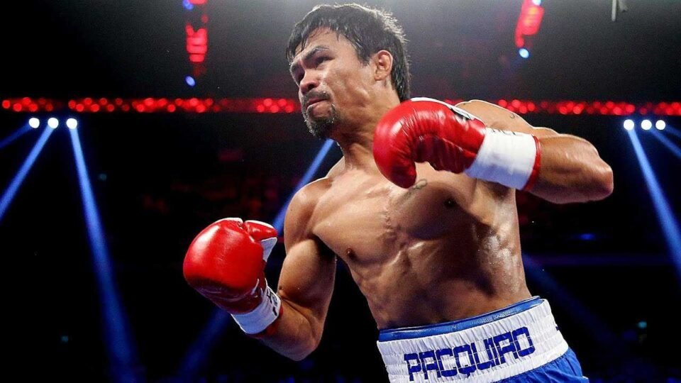 Manny Pacquiao in the ring,
